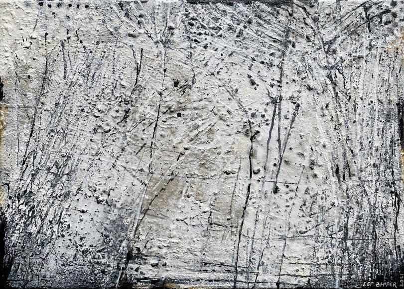 Wo alles begann ...; Eitempera mit Sand auf Leinwand; 70 x 50 cm; 2021