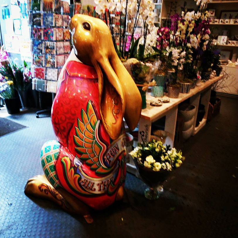 all the fun of the hare, cirencester hare trail, painted hares, kbmorgan