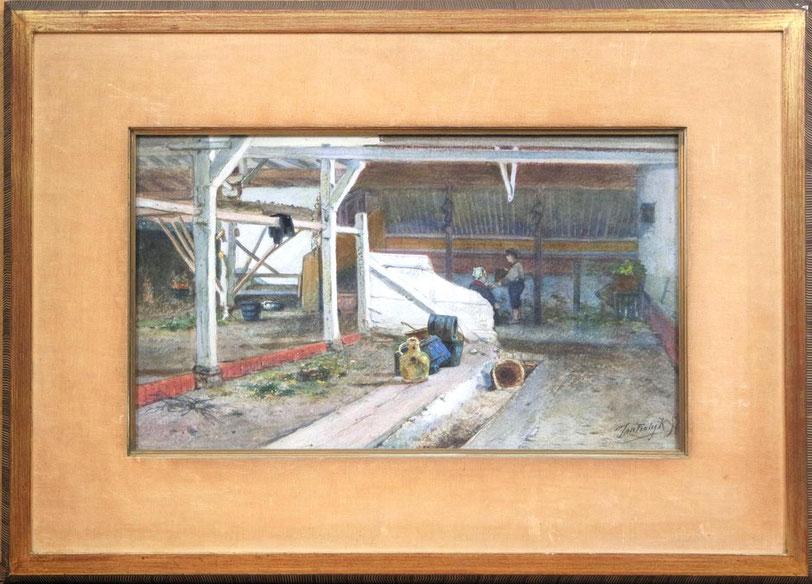 te_koop_aangeboden_een_aquarel_van_de_nederlandse_kunstschilder_jan_vrolijk_1846-1894