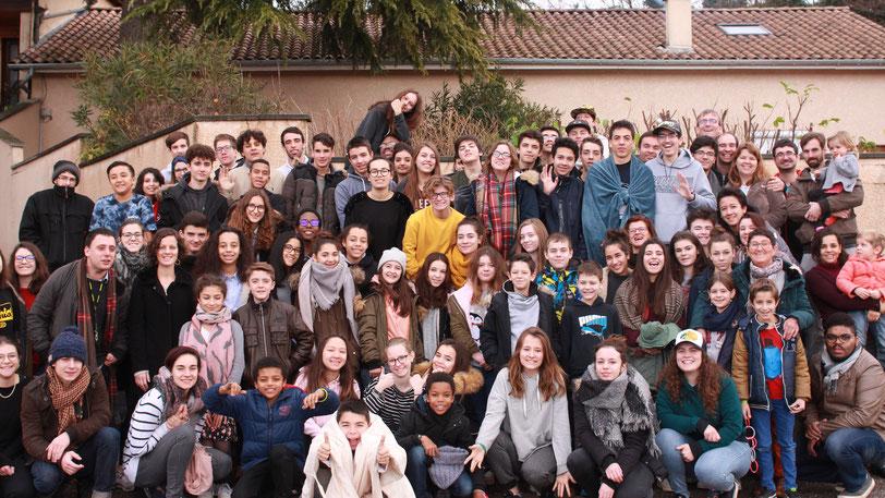 Nous étions nombreux au camp du nouvel an !