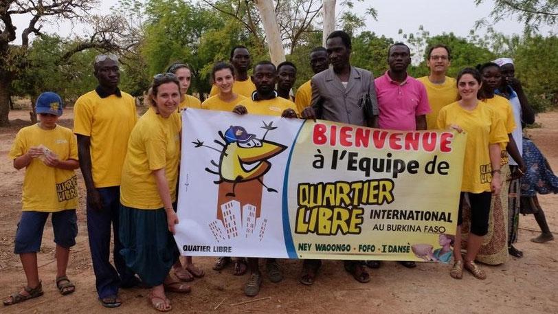 L'équipe Quartier Libre Burkina Faso
