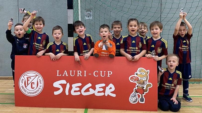 Stolze Sieger des Lauri-Cups in Lessenich: Die Bambini des SSV Heimerzheim (Foto: A. Friedrich/SSV Heimerzheim)