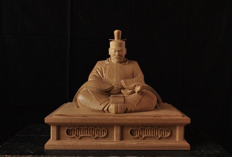 菅原道真 像 木彫り 天神様