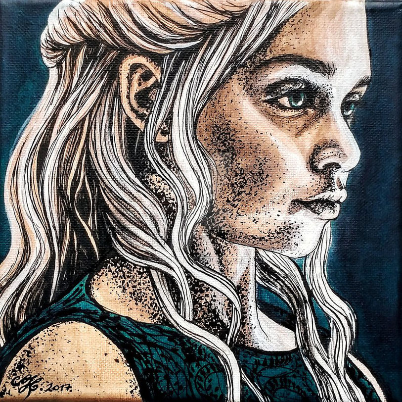 Die Mutter der Drachen: Daenerys Targaryan (Vathanna, Daenerys Targaryan from Game of Thrones, https://creativecommons.org/licenses/by-sa/3.0/deed.en)