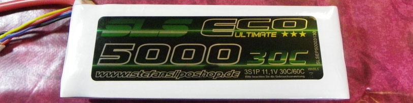 SLS EPU 3s LiPo Akku mit 5000mAh und 30C