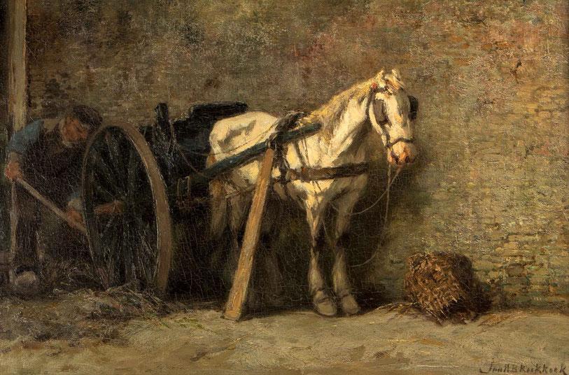 te_koop_aangeboden_een_schilderij_van_johannes_hermanus_barend_koekkoek_1840-1912_verwant_aan_de_haagse_school