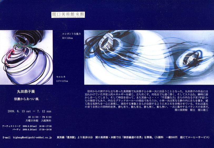 関口美術館展覧会のパンフレットの写真