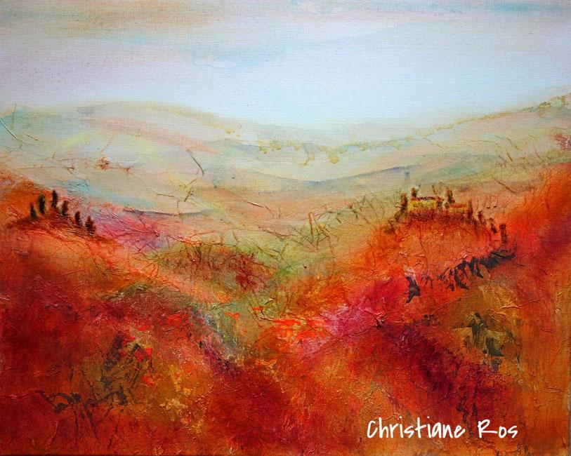 gemaltes Toskana-Bild - © Christiane Ros