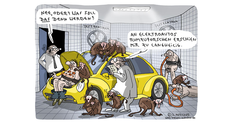 tagesaktueller Cartoon von H. Mercker Cartoon: VW