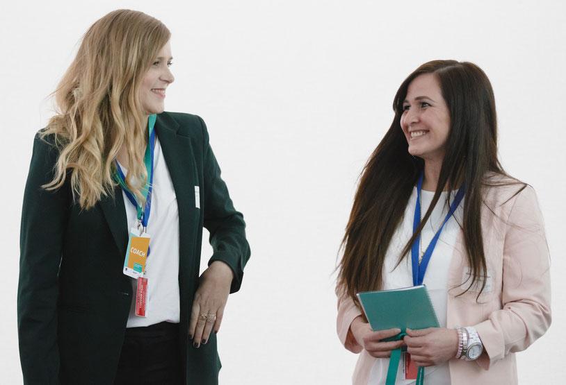 Matchmaking bei #UDZ Unternehmerinnen der Zukunft, Amazon Coach Constanze Wolff & Nilce Schlegel-Palmisano Malucas