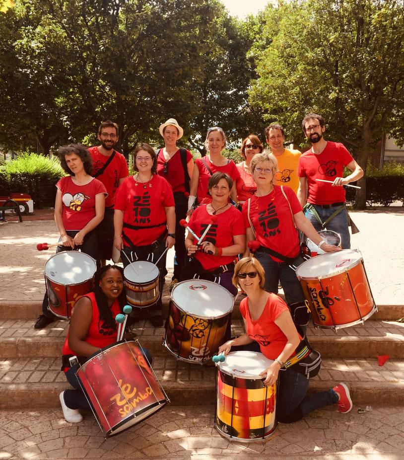 Batucada Zé Samba - Fête de l'Île-Saint-Denis Juin 2018