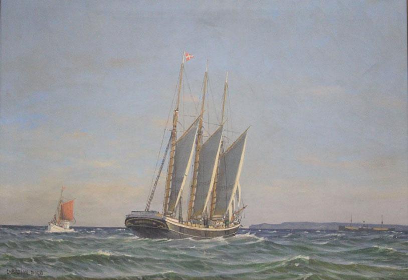 te_koop_aangeboden_een_marine_gezicht_van_de_deense_kunstschilder_christian_bogo_1882-1945