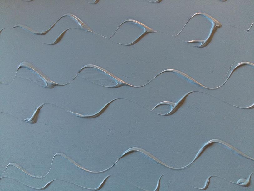 onde azzurre 100x80 acrilico su tela Collezione privata