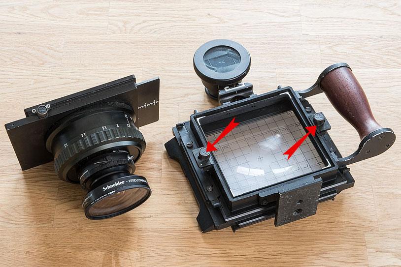 Erfahrungsbericht GAOERSI 4x5 Großformatkamera, Objektivwechsel. Foto: bonnescape.de