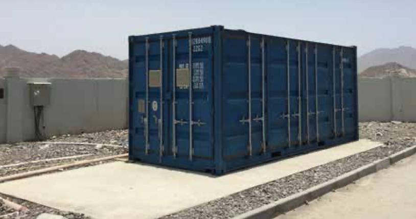Contenedor SBR - tratamiento de aguas residuales para campamentos, construcciones, obres temporales