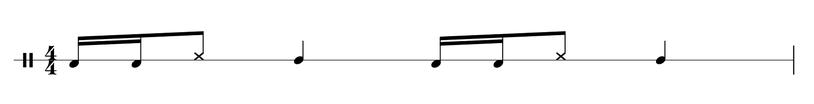 Cajon Groove für Rock und Metal Beispiel