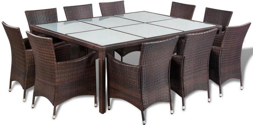 tavolo sedie +rattan +polyrattan + arredo giardino