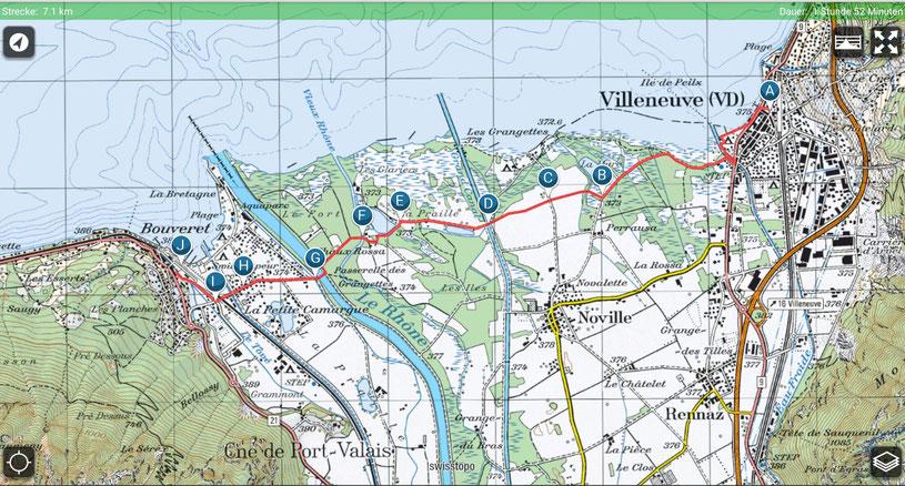 Villeneuve - Les Grangettes - Bouveret