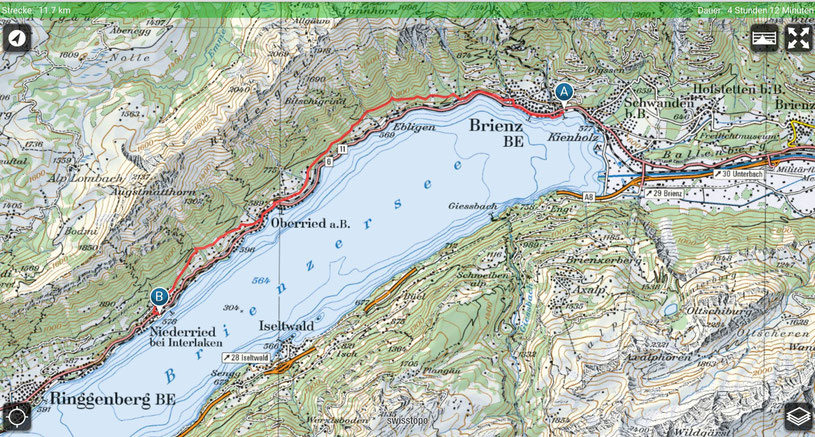 Brienz - Oberried - Niederried - Brienzersee