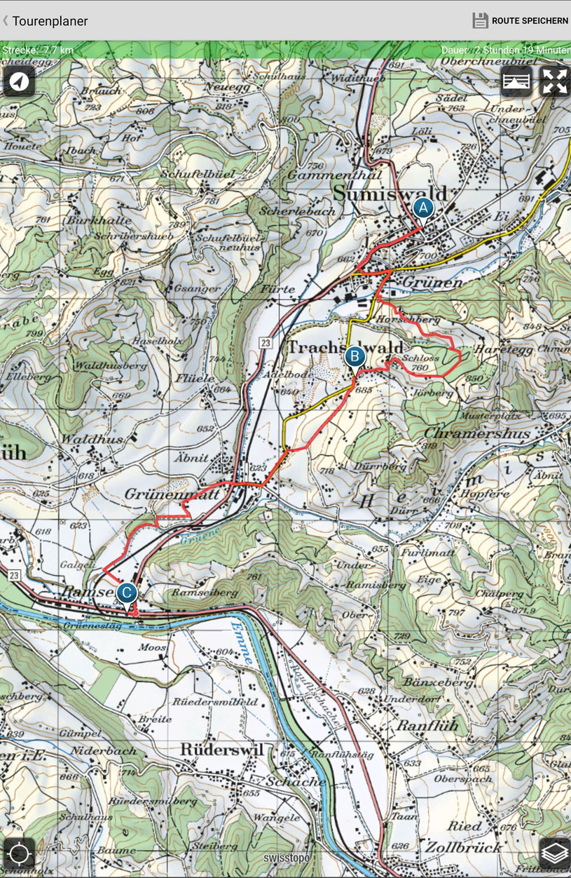 Sumiswald-Grünen - Trachselwald - Ramsei