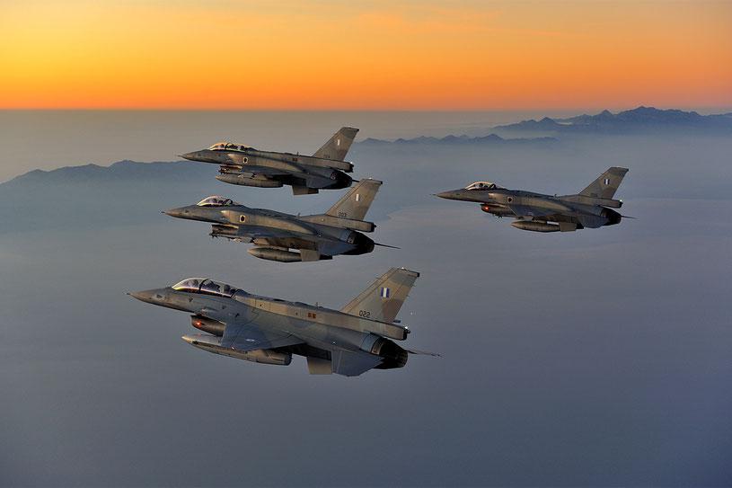"""La Polemikì Aeroporìa utilizza le versioni C e D (OCU). Ulteriori 20 F-16C e 10 F-16D """"Block 52+ Advanced"""" sono in ordinazione / © HAF"""
