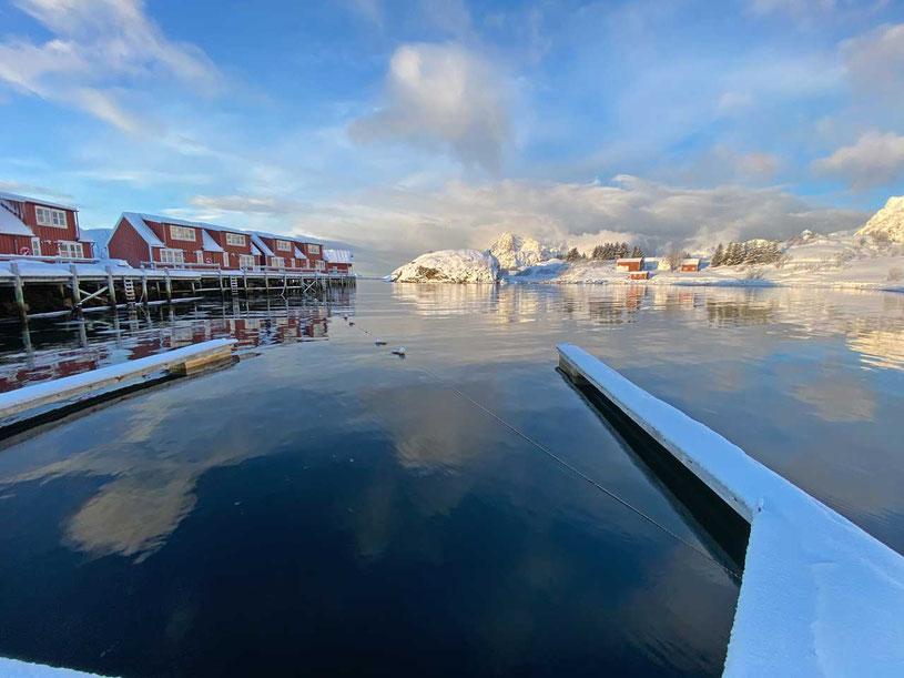 Norwegen Lofoten Kabelvag Lofoten Ski Lodge