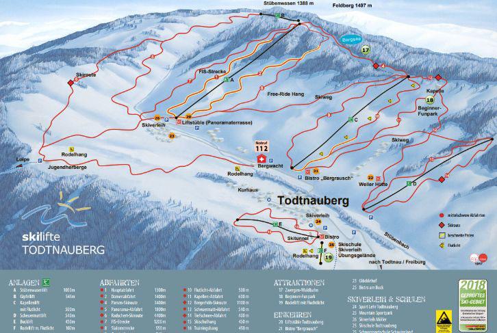 Übersicht Skilifte in Todtnauberg
