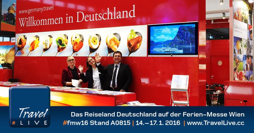 #TravelLive Livereportage: Reiseland Deutschland auf der Ferienmesse Wien 2016
