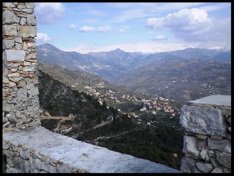 Vue de la partie la plus haute des ruines