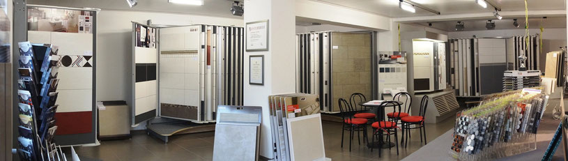 Neue moderne Ausstellung mir großer Auswahl an Wandfliesen und Bodenfliesen.