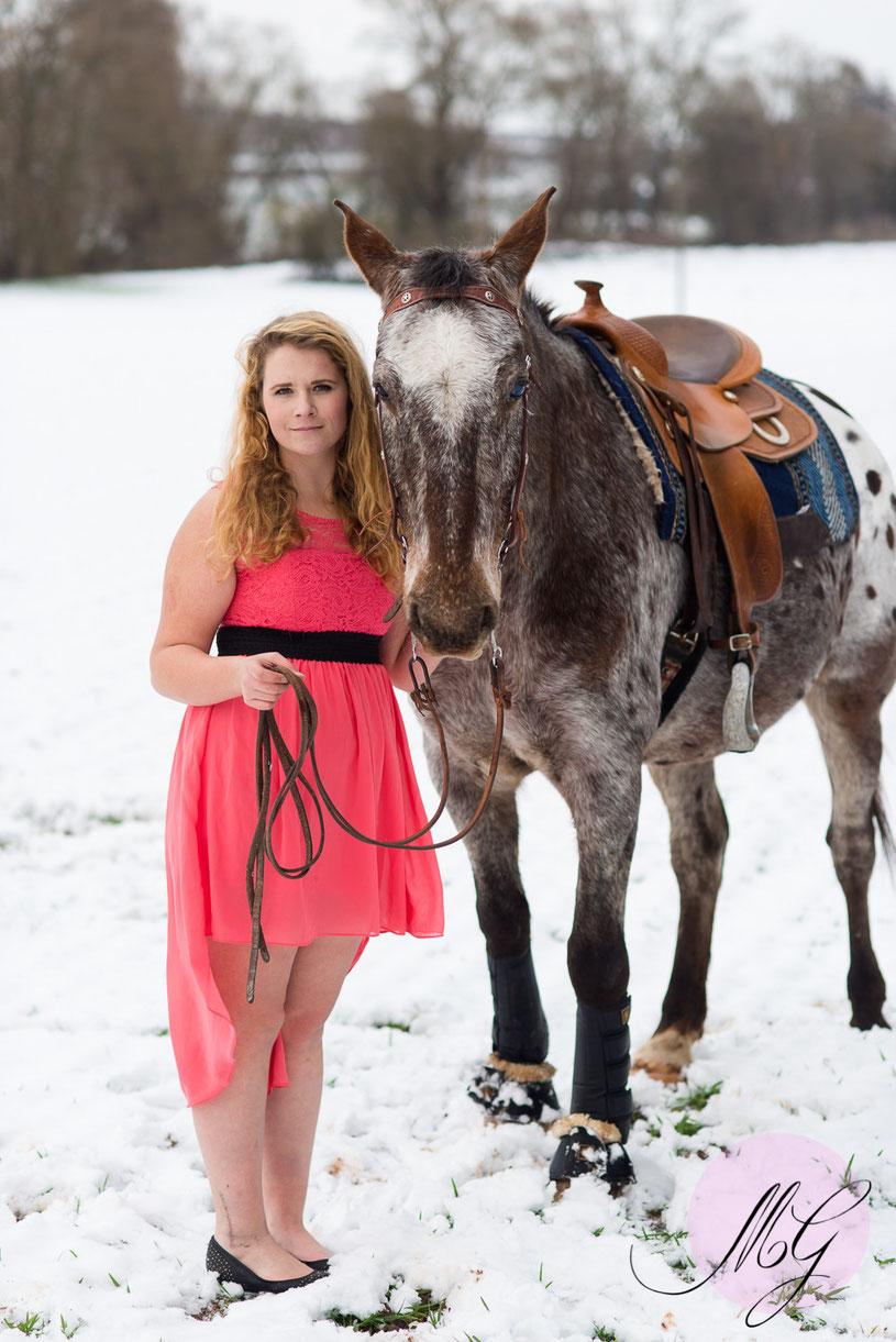 Jasmin Baldauf, Pferdefotos, Fotos, Fotograf, Mine im Glück, Portrait, Winter, Schnee