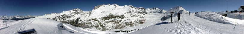 Bild Panorama Aletschgletscher vom Moosfluh
