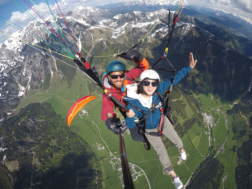 Paragleiten Tandemflug in Salzburg, Tandemflug in Salzburg