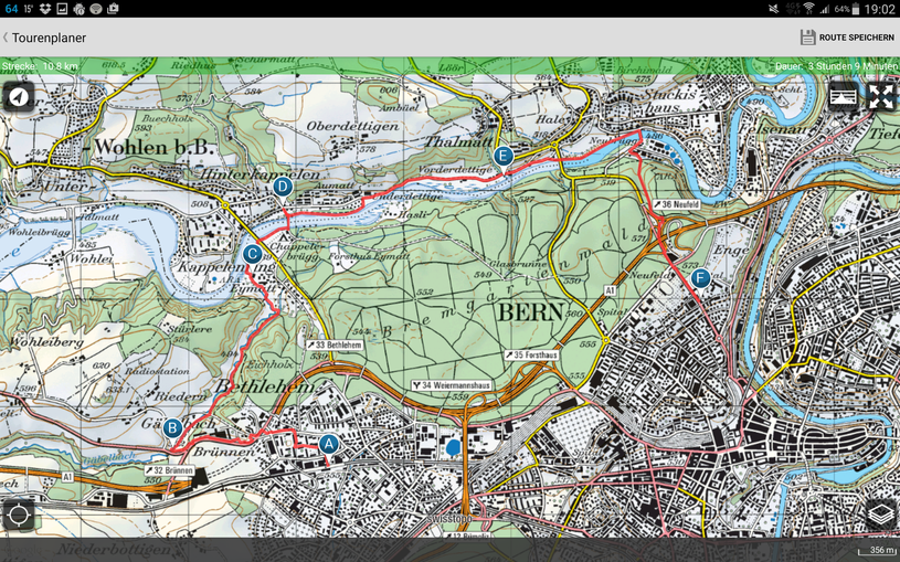Bern - Hinterkappelen - Bern-Neubrück - Bern-Enge
