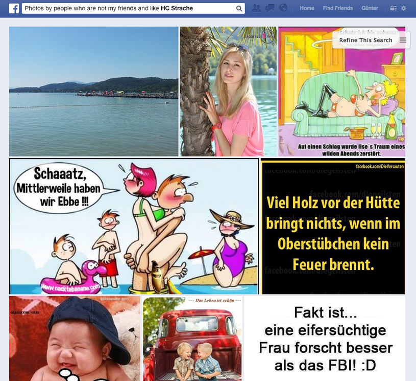 Photos by people who are not my friends and Ilke HC Strache