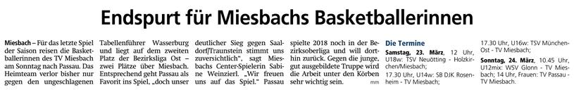 Artikel im Miesbacher Merkur am 23.3.2019 - Zum Vergrößern klicken