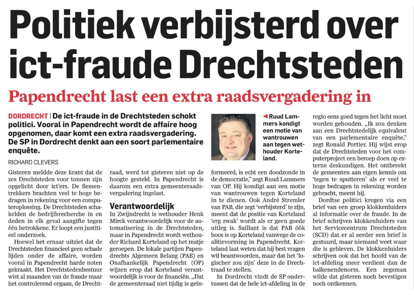 Publicatie 1 april 2014 AD Drechtsteden