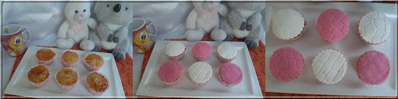technique recouvrement cupcake de pate a sucre