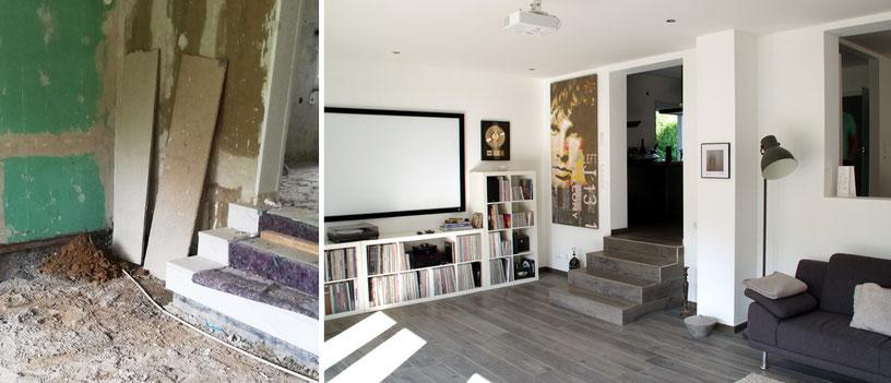 Komplette Sanierung eines Wohnhauses mit neuer Faltwerktreppe