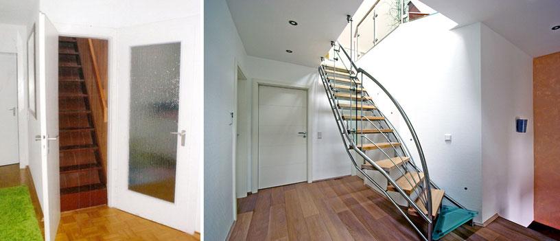 Ausbau eines Dachgeschoßes mit neuer Treppenanlage