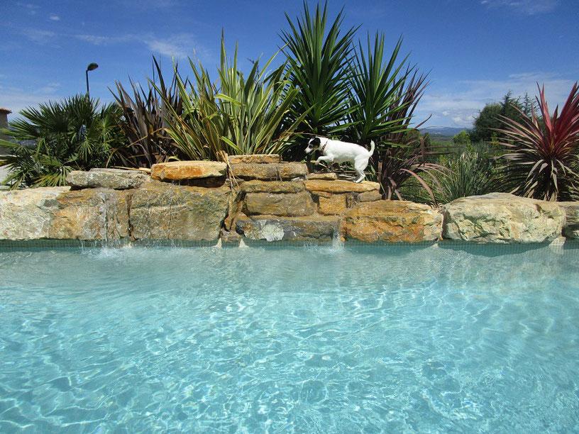 piscine eau turquoise