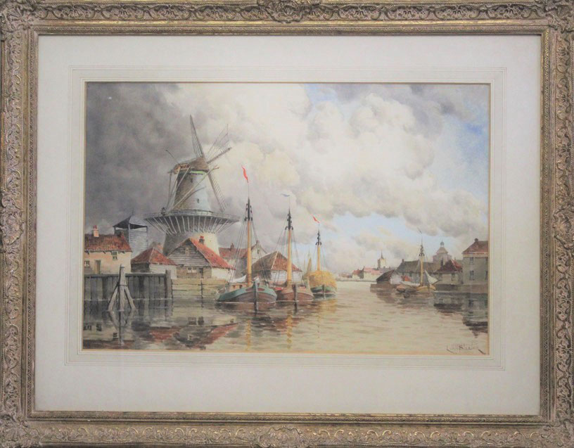 te_koop_aangeboden_een_havengezicht_van_de_nederlandse_kunstschilder_hermanus_koekkoek_jr_1836-1909