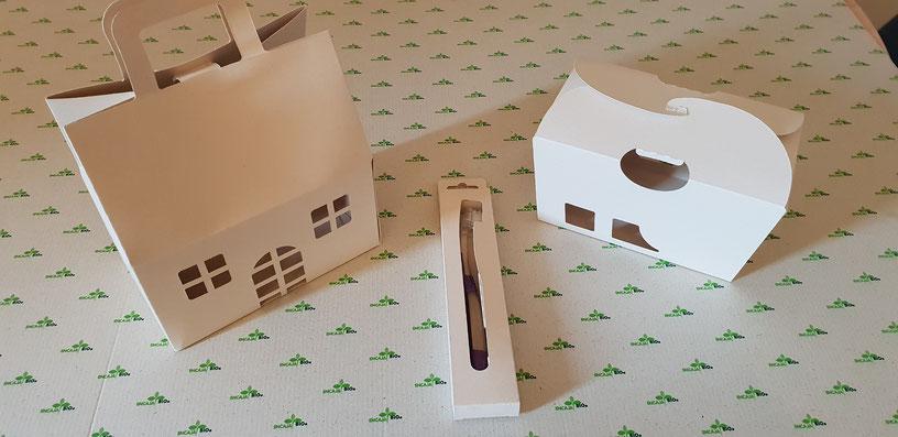 Packaging hecho en papel caña de azúcar
