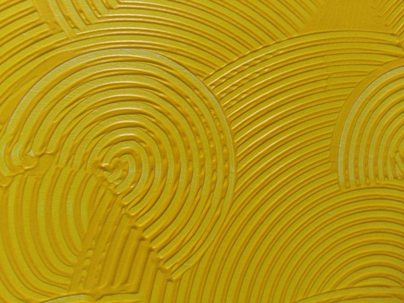 girandole gialle 100x80 acrilico su tela ...Collezione privata