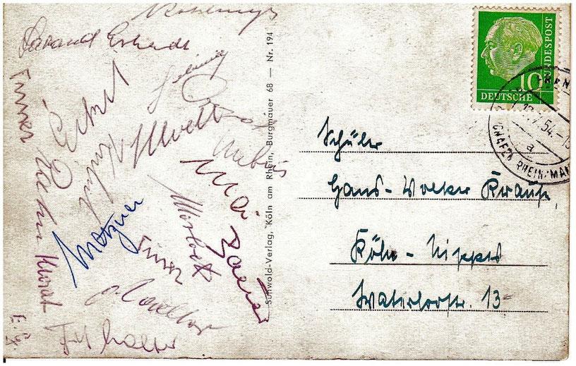 Die Autogramme der Helden von Bern