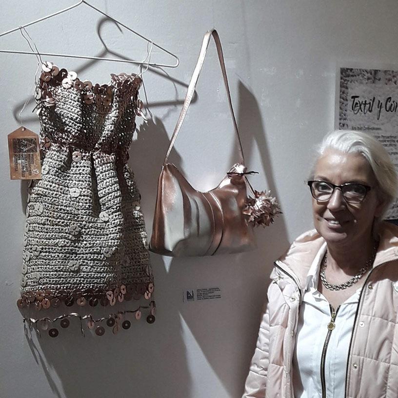 Exposición de Arte Textil y Corpóreo, rganizada por Artistas Visuales de San Martín, Arte contemporáneo. Adriana Gutiérrez agatadeargentina