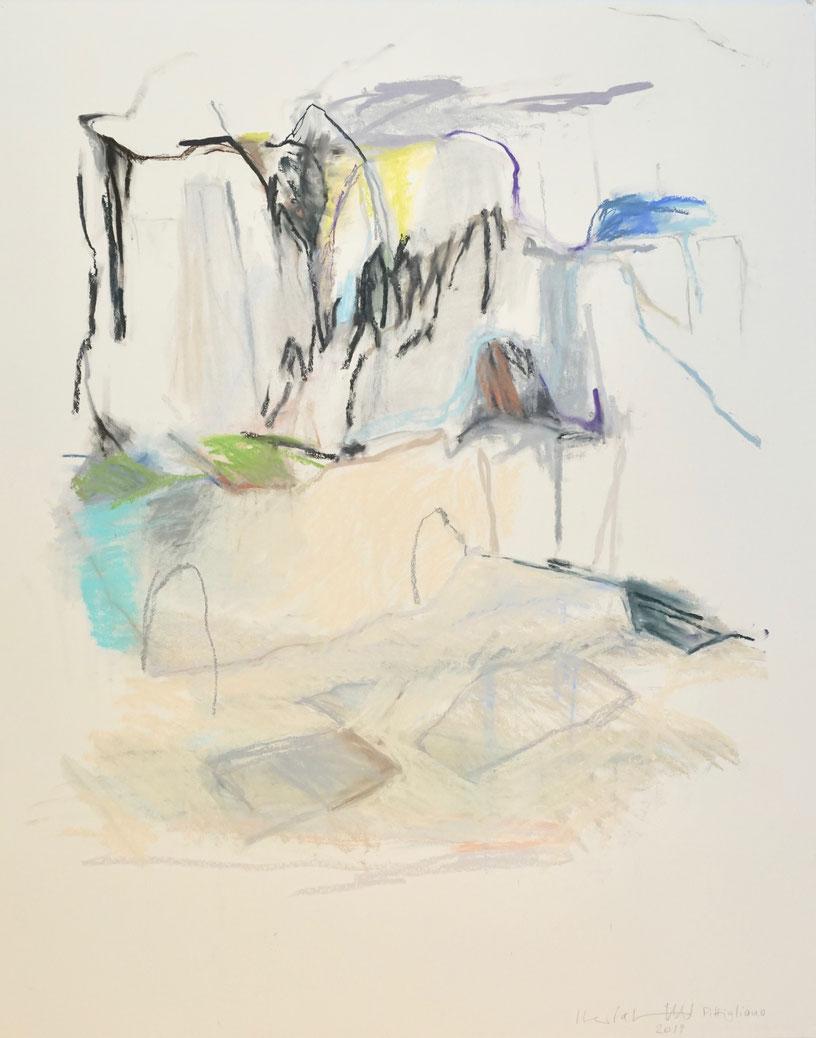 Pitigliano 2019   125x150 cm  Papier/Pastell