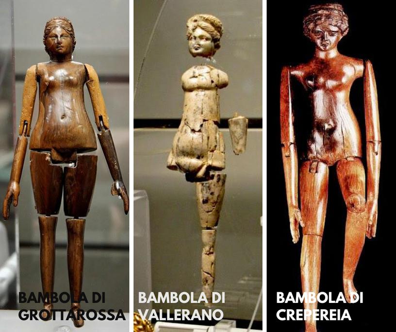 Bambole in età romana, II-III sec d.c.