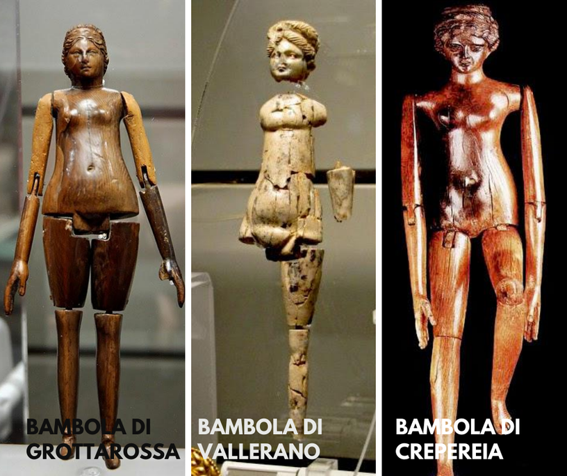 Dolls in the Roman age, II-III sec d.c.
