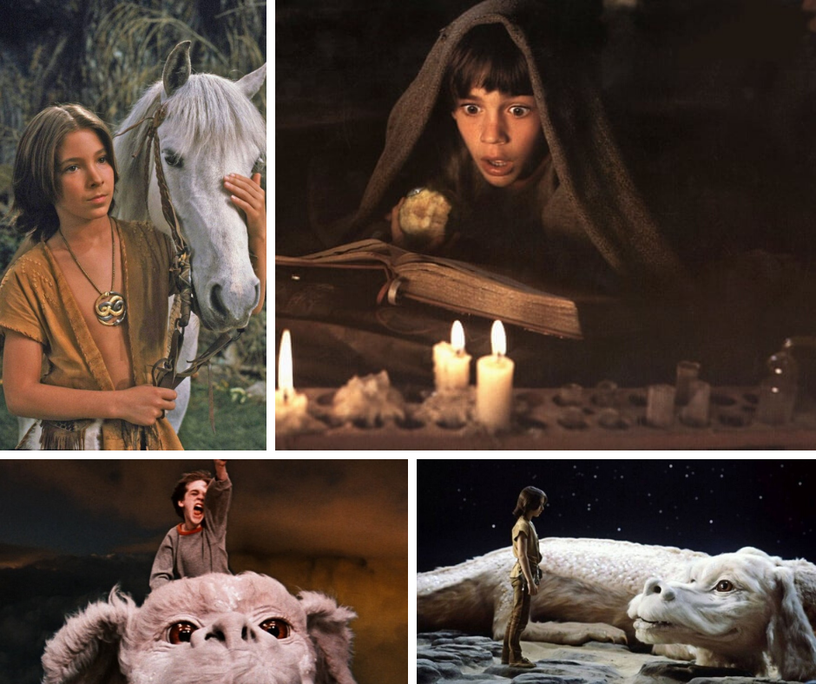 Some frames of the movie inspired by the book of Michael Ende, The neverending story.